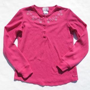 American Girl Large 14/16 Thermal Shirt Pink